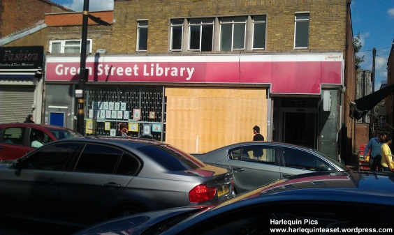 Green Street Library - destroyed  by London Rioters