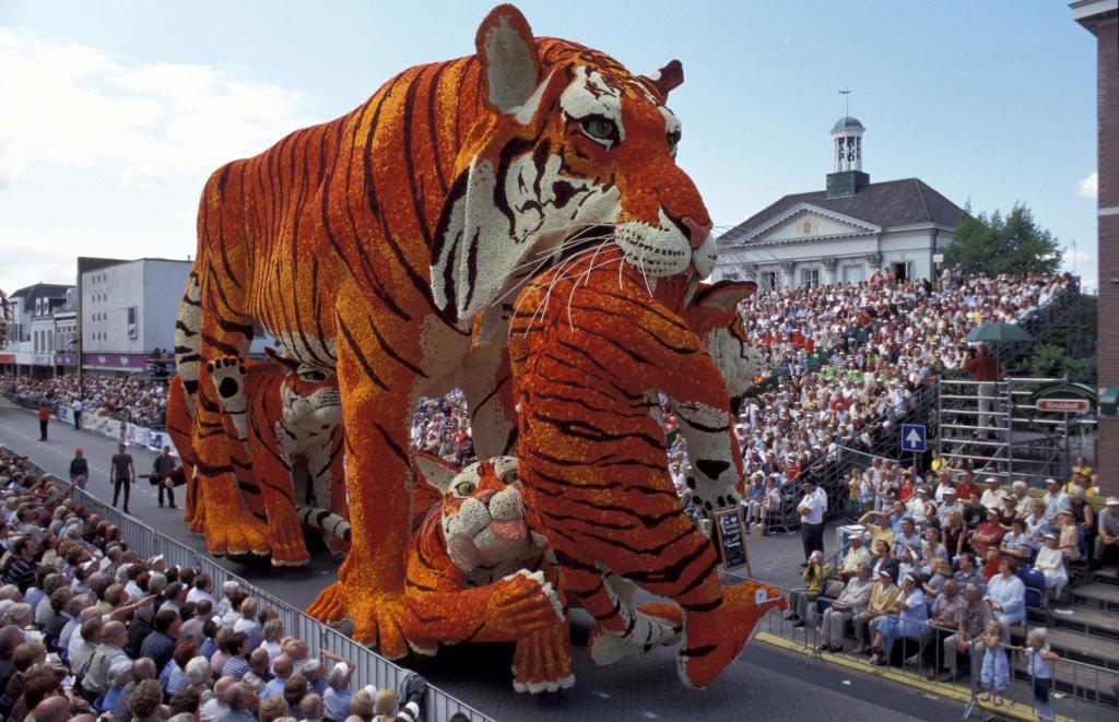 An Annual Flower Parade In Zundert Netherlands The