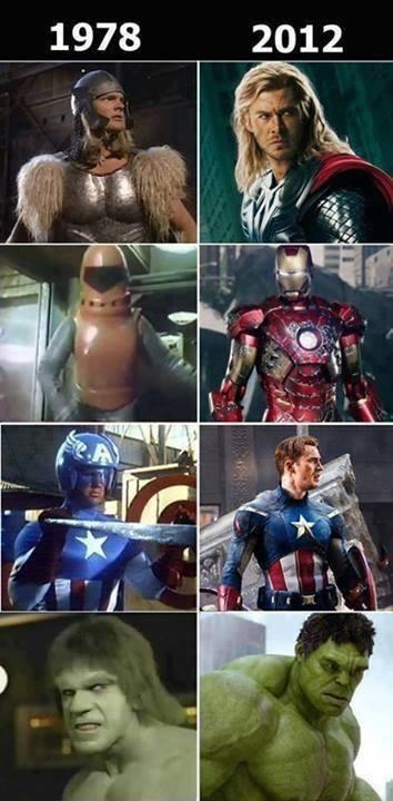 Superheroes. How times have changed.