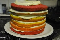 6. Stacky stack. Use butter cream inbetween layers (we made our own buttercream too, cos we're cool like that).
