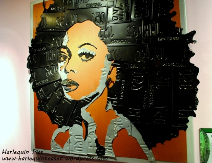 Diana Ross made from number plates.