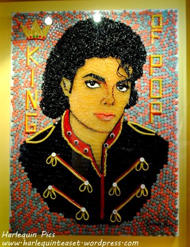 The King of Pop made from sweets