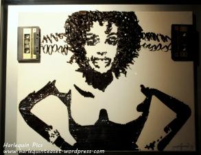Whitney Houston made from cassette tape
