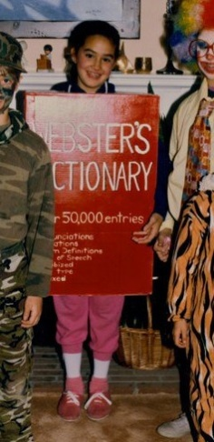 dictionary-costume