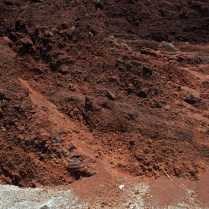 Shades of reddish-brown volanic sand