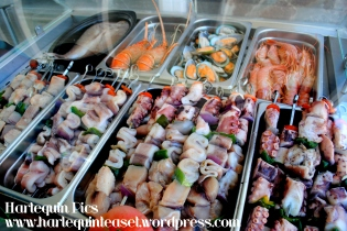 Fresh fish waiting to be grilled