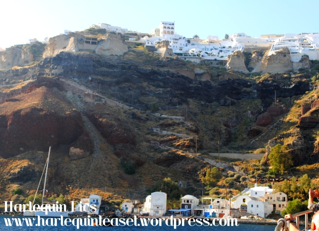 View of Oia from the bottom