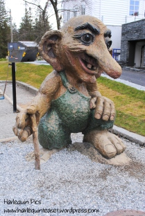 A huge troll statue