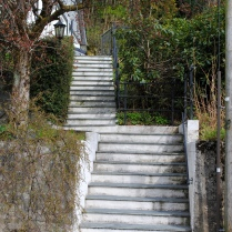 Stairs leading to the roads