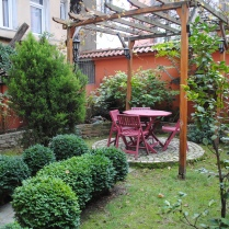 This is the apartment that my husband and I stayed at, which had a beautiful garden. We spent most mornings here having breakfast and enjoying our view.